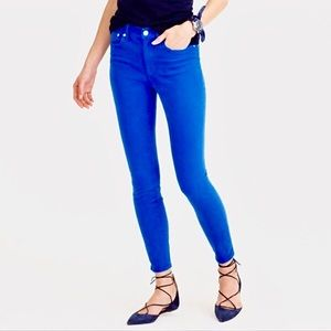 J Crew Lookout High Rise Skinny Blue Jeans. 28
